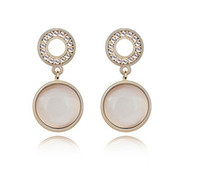 Wholesale Opal Earrings hot sale korean style crystal fashion jewelry mixed colors LM E053