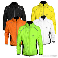 Breathable Men Polyester Hot! Plus Size Tour de France Cycling Sports Shirts Men Riding Breathable Reflective Jersey Cycle Clothing Long Sleeve Wind Coat