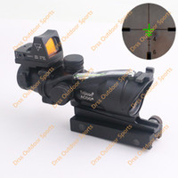 Wholesale Drss ACOG Style X32 Real Fiber Source Green Illuminated Scope With RMR Micro Red Dot Black DS4551