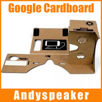 Wholesale 20pcs up New DIY Google Cardboard Virtual Reality Mobile Phone Gglasses for d Glasses High Quality