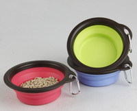 Wholesale Pet Dog Cat Bowl Puppy Drinking Collapsible Easy Take Outside Color Feeding Water Food Feeder Travel Bowl Dish