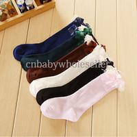children socks - 2014 Fall New Fashion Girls Socks Korean Style Cotton With Bow Lace Children Socks Kids Clothes SC40825