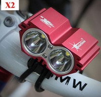 Wholesale New Fashion Lumen x CREE T6 LED Owl Front Bicycle Light Bike Headlamp Headlight Outdoor Flash Lights