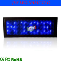Wholesale Battery Powered Scrolling LED Name Badge Tag LED Name Board Card Mini Display