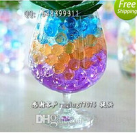 Wholesale New Deco Beads Water Crystals Pearls Balls Soil Mud Beads Flower Garden Planting color bag