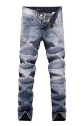 Wholesale 2014 New Casual brand thin Men Jeans Vintage Designer True White washed Denim Overall Skinny Men jeans