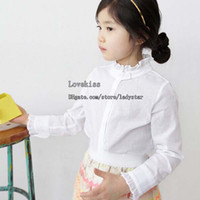 Wholesale Children Shirts Korean Autumn Girls Shirts Child Shirt Kids Shirts Long Sleeve T Shirts Girl Dress Children Clothes Kids Clothing Best Shirt