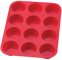 Wholesale Silicone Muffin Pan Non Stick Cake Bake Tray Cup Round Cells Cupcake Baking Tools FDA