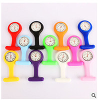 nurse gifts - Promotion Christmas Gifts Colorful Nurse Brooch Fob Tunic Pocket Watch Silicone Cover Nurse Watches Colors