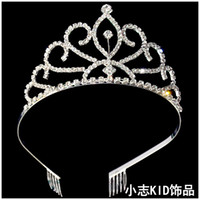 Wholesale Top Grade Lovely Girls Wedding Jewelry Crown Royal Children Like Headpiece for Flower Girl at Wedding