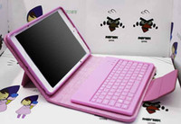 Slim Bluetooth Wireless IPad & Tablet Stand Leather Case Wireless Bluetooth Keyboard for ipad 2 3 4 ipad air ipad mini Case for iPad mini Colorful with Retail Box waitingyou