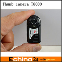 Wholesale DHL New Night Vision T8000 P HD Mini Hidden DV DVR Camera Camcorder Recorder