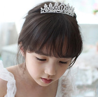 Wholesale FreeShipping Wedding Tiara Headpieces The Flower Girls Crown Hair Combs Jewelry