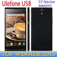WCDMA Octa Core Android 2pcs 5.5 inch MTK6592 Octa Core 1.7GHz Ulefone U58 U5+ Moblie phone 2G 16G Android 4.2 960 x 540 HD 3G WCDMA 8MP OTG gesture Dual SIM C1