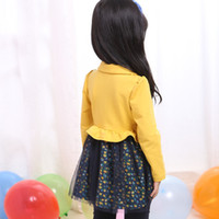 Wholesale Urban clothing girls dress send e Hitz Korean children s long sleeved floral dress princess skirtCMTQ137
