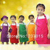 adjustable aprons - New Adjustable Plain Apron Front Pocket Children Waiter Chefs Kitchen Cook Craft Bib