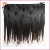 Cheap 3Pcs Brazilian virgin hair straight natural black color human hair AAAAA Brazilian straight hair weave can be dyed or bleached