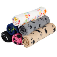 Wholesale Pet Dog Cat Blanket Mat Bed Cover Cute Paw Design Pet Cushion Cover Pet Supplies Products cm Towel