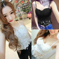 Women Solid Lace Sexy 2014 New Summer Women Lady Floral Lace Strapless Bodycon Short Vest Crop Top Camis Bustier Corset Bra