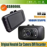 Wholesale Original Novatek Car DVR Car Camera DVR Recorder GS8000L P Degree Wide Angle Glass Lens Screen G Sensor