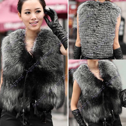 Wholesale 2014 new fashion Low Price Faux Fox Fur Vest Gilet Vset Jacket Outwear Waistcoat Hot SV004747