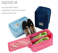 nylon+mesh bag for shoes - Free ship waterproof shoes pouch composition travel organizer pouch for shoes storage bag