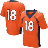 Wholesale Peyton Manning Jerseys Cheap On Field Football Jerseys Elite Authentic Sewn Football Shirts Top Selling Player Jerseys