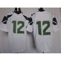 Football Men Short High Quality Football Jerseys #12 Elite Jerseys White Navy Blue Authentic American Football Uniforms Cheap Stitched Brand Sport Jersey
