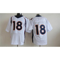Wholesale Peyton Manning Jerseys New Style White Blue Orange Elite Football Jerseys Top Selling Players Quarterback Jersey