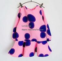 Wholesale Korean Girl Dress Autumn Mickey Princess Dress Girls Dresses Children Clothes Kids Clothing Shirt Dress Fashion Dresses Kid Child Dress