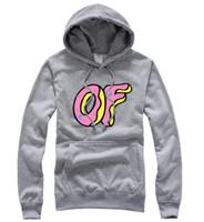 Cheap Wholesale-OFWGKTA GOLF WANG Brand Hip Hop Skateboard Odd Future Donut Autumn Winter Men and Women Design Hoodies Sweatshirt Pullover