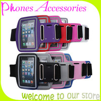 For Apple iPhone PU White Sport Armband Case for Mobile Phone Accessory for iphone 4 4S 5 5S Samsung Galaxy S3 S4 Note1 2 With OPP Package Made in China 10PCS Lot