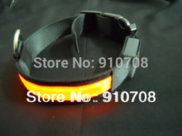 Wholesale flashing LED pet collar flashing dog collar size ad various colors available FEDEX