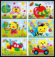Wholesale designs Series E DIY Cartoon Animal D EVA Foam Sticker EVA Puzzle Arts Crafts Baby Handcraft Material Educational Toys