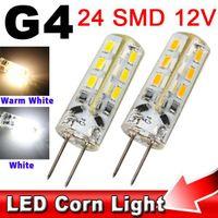 10pcs haute puissance SMD 3014 24 48 LED 3W 5W 12V G4 Silicon cristal maïs ampoule à économie d'énergie Remplacer Accueil voiture 20W lampe halogène Lumière