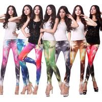 Lycra Mid Novelty Lightning printing women leggings street dance pants Lace jogging pants chiffon palazzo legging free shipping