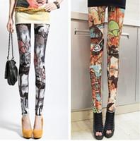 Lycra Mid Novelty Milk silk flowers graffiti leggings new style high waist leggings jeggings jeans for women punk rock clothing
