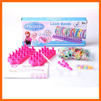 Link, Chain rubber Bracelets Type frozen loom bands DIY toys Kit looming kits Rubber band bracelets gifts for children (1705001)