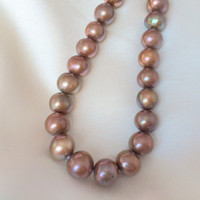 Food aa tv - AA mm Chocolate Near Round Genuine Freshwater Pearls Natural Loose Beads Strand inches