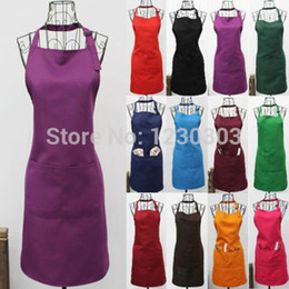 Wholesale New Fashionable Polyester CRAFT COMMERCIAL RESTAURANT KITCHEN APRON Colour KLL Write the order remark of the color you want