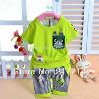 Cheap Unisex baby summer clothing set Best Spring / Autumn Short children clothing sets