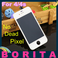 Wholesale 10 Grade AAA High Quality For iPhone S GSM CDMA Front LCD Display Touch Screen Digitizer Full Assembly No Dead Pixel Spot