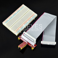 Cheap Free shipping! Raspberry faction, GPIO expansion DIY kit cable + 400 holes Breadboard + GPIO adapter plate