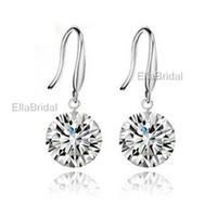 earings - Shinning Crystal Bridal Jewelry High Quality Silver Wedding Eardrop Prom Party Event Earbob Evenning Accessories Earings Earrings