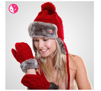 Wholesale 2016 Hot Sale Knitted Wool Mittens Fashion Winter Fall Warm Thickened Ladies Kint Outdoor Gloves Five Colors High Quality Actionfox