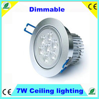 Wholesale 7W Dimmable led downlight factory Sller W high quality high power Ceiling Recessed Lights down light Degree Degrees Degrees