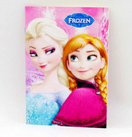 Wholesale 4 colors new Frozen Cartoon Drawing Coloring Books with Stickers Crayon Painting Notebook frozen
