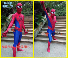 Wholesale 2014 brand new The Amazing Spider Man Tight clothing suits Digital printing is not fade