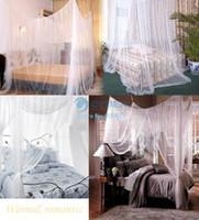 Plush Fabric Cotton Column 2014 New Elegant Four Corner Bed Canopy Netting Curtain Mosquito Net #005 OS00045
