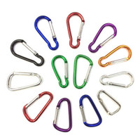 Flashlight Aluminum Solar Keychains Wholesale - hot selling Carabiner Camp Snap Clip Hook Keychain Hiking mixed color !Aluminum Convenient Hiking Camping Clip On Keychain